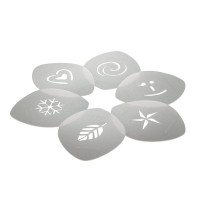 Aerolatte Cappuccino Art Stencils - Set of 6