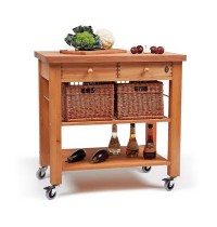Lambourn 2-Drawer Kitchen Trolley