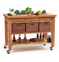 Lambourn 3-Drawer Kitchen Trolley