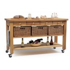 Lambourn 4-Drawer Kitchen Trolley