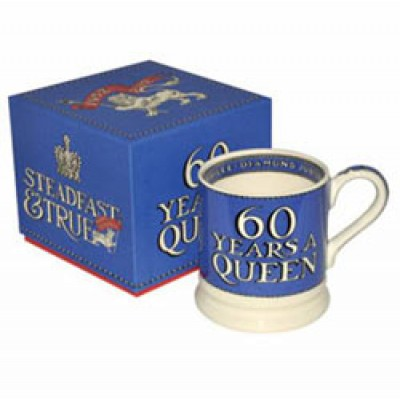Diamond Jubilee Litho 1/2 pint mug (boxed)