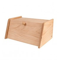 Beech Wood Drop Front Bread Bin