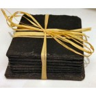 6 Hand Made Slate Coaster's and 1 Wine Bottle Coaster