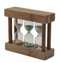 Bredemeijer Tea Timer Bamboo 3-in-1 Hourglasses for 2 / 3 and 5 Minutes