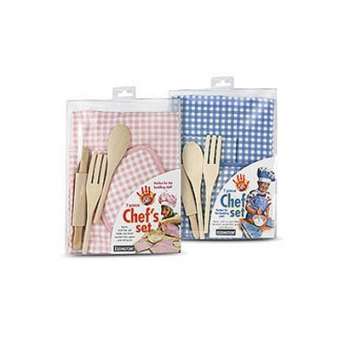 Mini Chef's Set 7 Piece, Pink or Blue