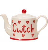 Cwtch Teapot Moorland Pottery Cymruware