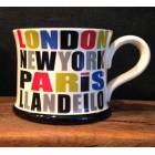 London, Paris, New York, Llandeilo Mug