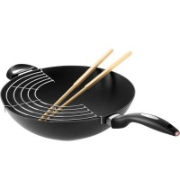 Scanpan IQ 32cm Wok With Rack And Sticks