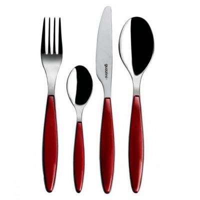 Guzzini Feeling Individual Cutlery Red