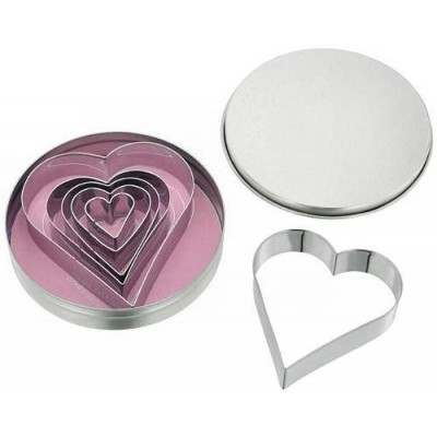 Judge Set Of 6 Heart Shape Cutters