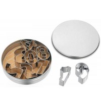 Judge 9 Large Number Cutters and Storage Tin