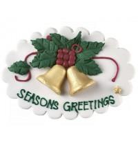 Seasons Greetings Bell Sugar Plaque