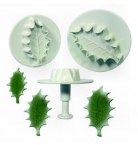 PME Plunger Cutter - Veined Holly Leaf - Set of 3 Large