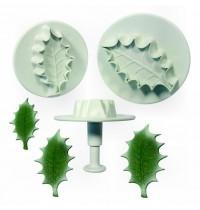 PME Plunger Cutter - Veined Holly Leaf - Set of 3 Large