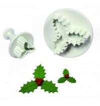 PME Plunger Cutter - Three Leaf Holly - Set of 2