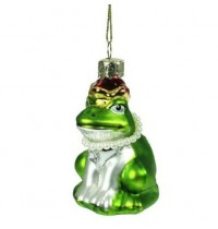 Painted Glass Retro Frog Decoration