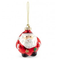 Painted Glass Retro Small Santa Decoration