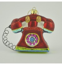 Painted Glass Retro Telephone Decoration