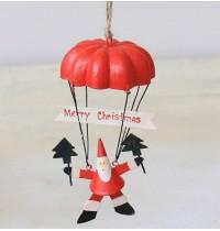 Tin Santa on Parachute