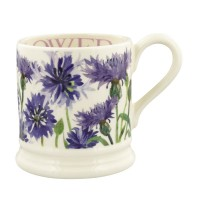 Emma Bridgewater Flowers Cornflower 1/2 pint mug