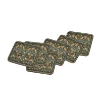 Strawberry Thief Tapestry Coasters set of 6