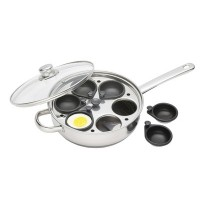 Clearview Stainless Steel 6 Cup Egg Poacher Set