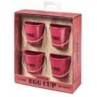 Egg Cup Fire Buckets - Set of 4