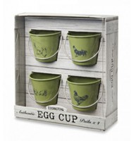 Eddingtons Rooster Sage Egg Cup Buckets