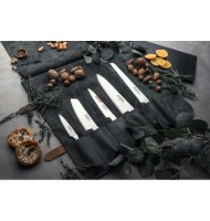 Global 6-Piece Deluxe Leather Knife Set