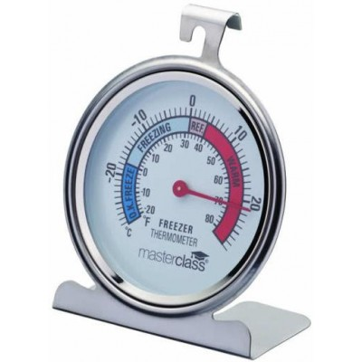 Master Class Deluxe Stainless Steel Fridge / Freezer Thermometer 10cm