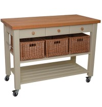 Lambourn Three Drawer French Grey Kitchen Trolley