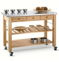 Lambourn Three Drawer - Stainless Steel Top Kitchen Trolley