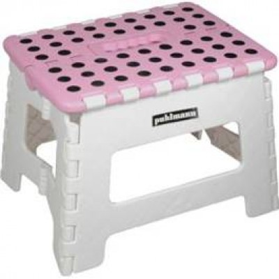 Miss Daisy Foldable Pink / White Stool