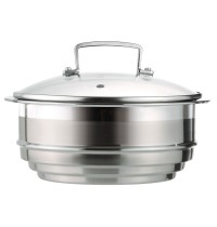 Multi Steamer with Glass Lid for 3-ply Stainless Steel