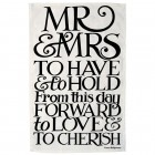 Emma Bridgewater Black Toast Mr & Mrs Tea Towel