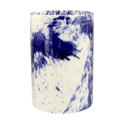 New Emma Bridgewater Blue Splatter Medium Vase