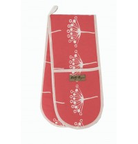 Red Cow Parsley Double Oven Glove