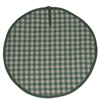 Sterck Round Green Checked Gingham Chefs / Aga Pads