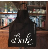 Typographical Chalk Style 'BAKE' Apron