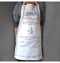 Champagne Quote Apron