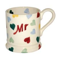 Emma Bridgewater Polka Hearts Mr 1/2 Mug