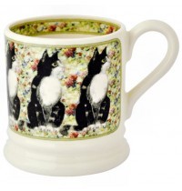 Emma Bridgewater Black & White Cat 1/2 Pint Mug