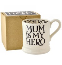 Emma Bridgewater Black Toast Mum is My Hero 1/2 Pint Mug Boxed