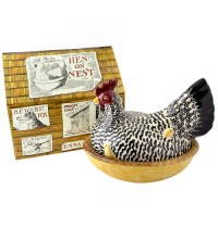 Emma Bridgewater Silver Hen on Nest Boxed