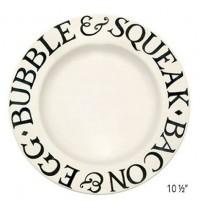 """Emma Bridgewater Black Toast 6½"""",  8 ½""""  & 10 ½"""" Plates"""