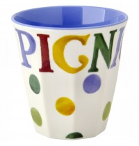 Polka Dot Text Melamine Beaker