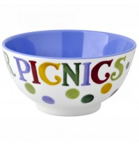 Polka Dot Text Melamine Bowl