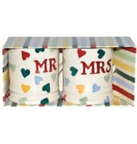 Emma Bridgewater Polka Dot Mr and Mrs Set of 2 Mugs (boxed)