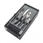 Contour Noir 24 Piece Satin Cutlery Set